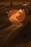 レンズフレアのある風景