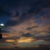 屋上駐車場の夕空