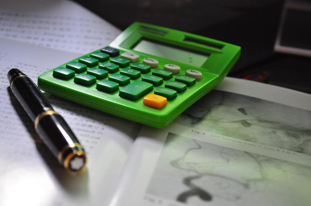 万年筆と電卓