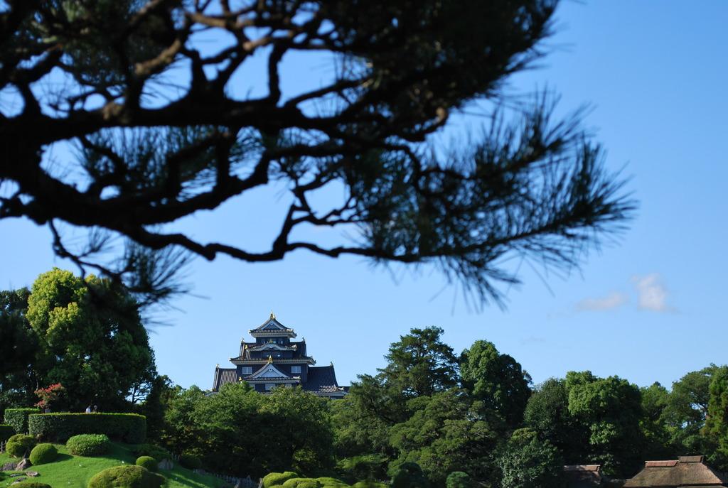 後楽園から望む岡山城