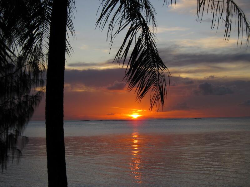グアムの夕陽