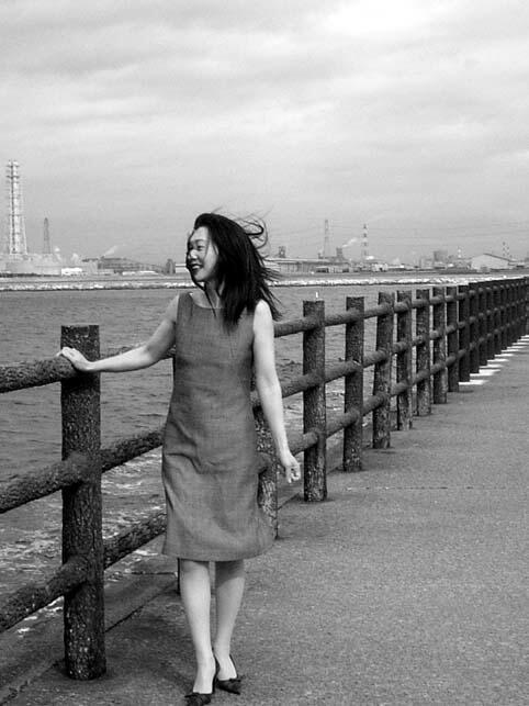 東京湾にて。