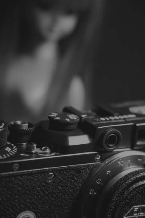 自慢のカメラと彼女