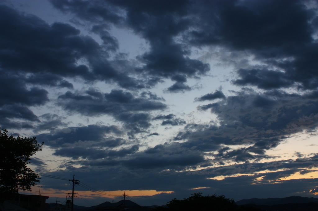 雨のち夕暮れ