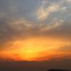 夕日と青空と