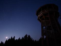月夜の展望台