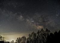 RICOH IMAGING PENTAX K-1で撮影した(天の川と飛行機と、ちっこい流星・^^)の写真(画像)