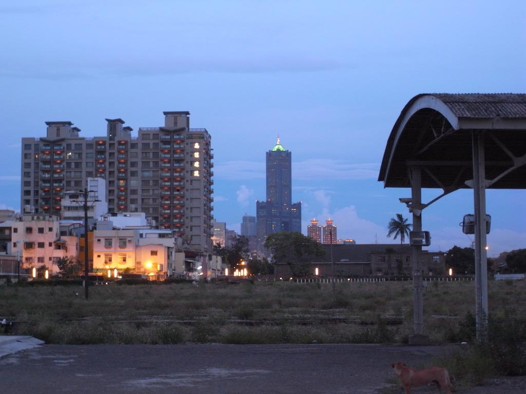 サイクリングロードから見る85大樓