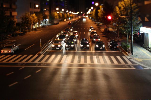 夜の国道。