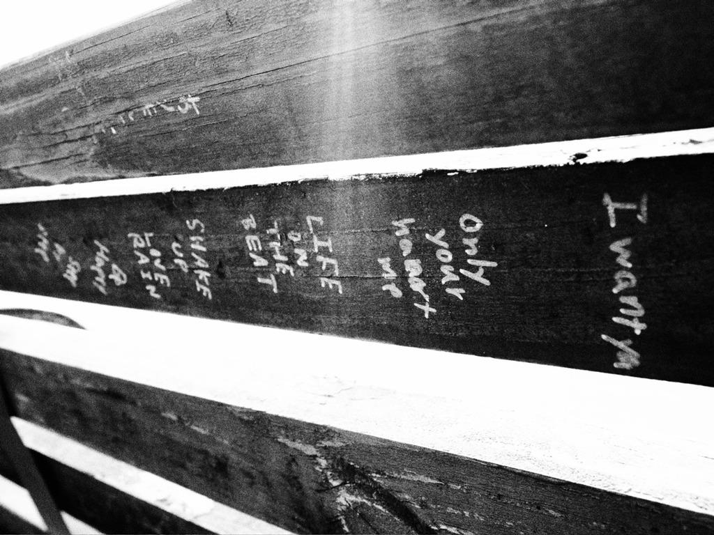 ベンチ裏のメッセージ