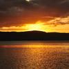 十和田湖の夕日③