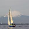富士山とヨット