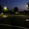 夕暮れの交差点