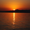 琵琶湖の夕照②