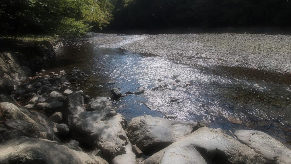 伊勢神宮の中にある川