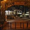 夜の三ノ輪橋駅入り口