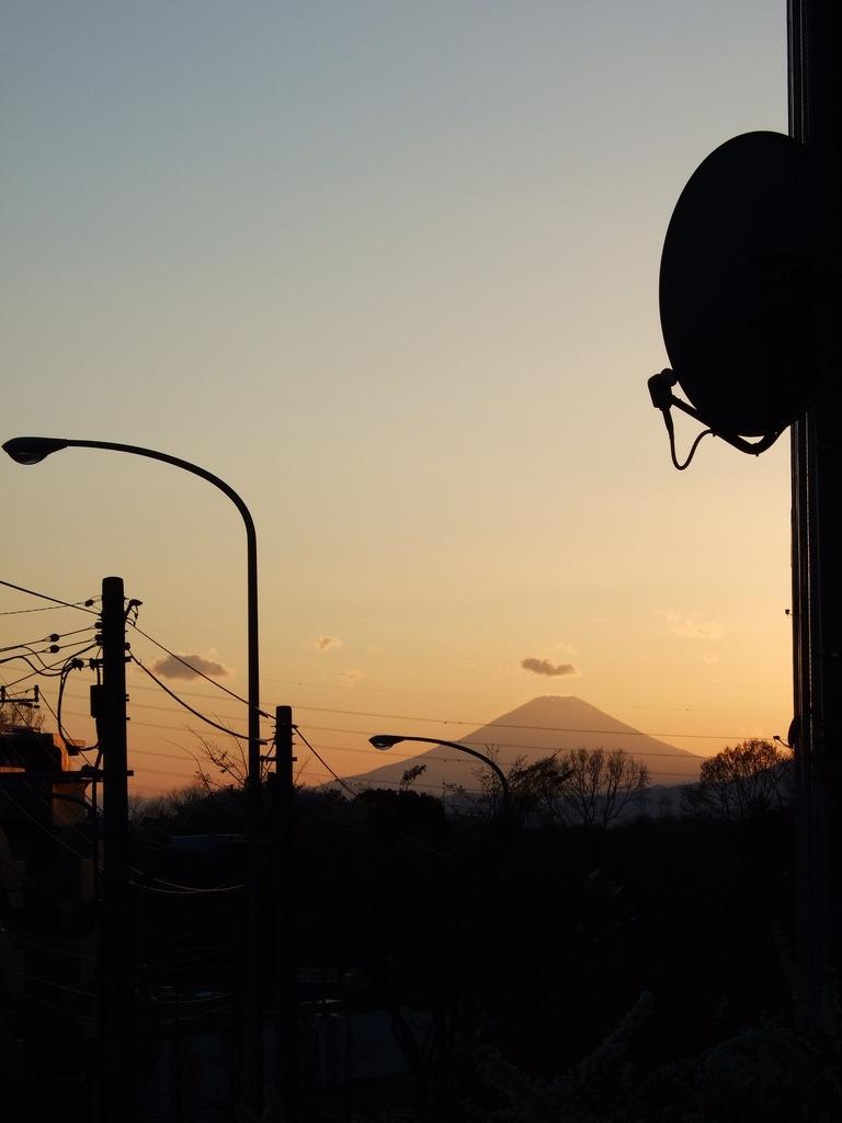 富士山とアンテナ