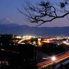 夕富士×中部横断道・中央本線・甲州街道