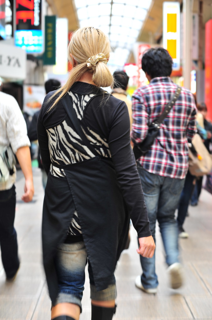 bleach blond black apron