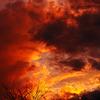 炎の夕焼け