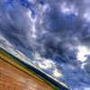 雲渡る秋の情景