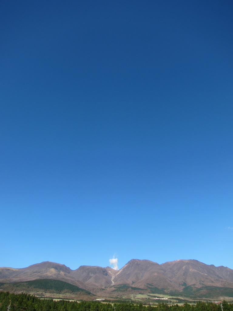 久住高原から見る九重連山