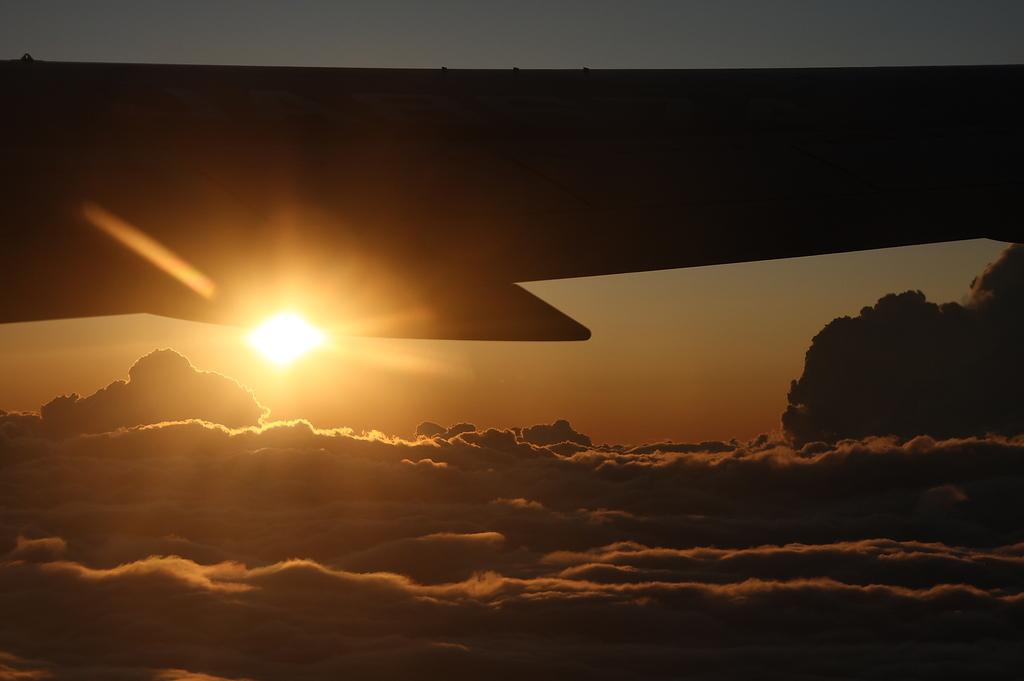 雲海と夕日