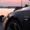 E60と夕日