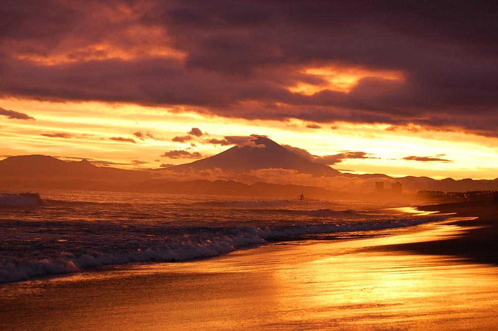 鵠沼の夕陽
