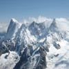 エギュイ・デュ・ミディから見える山々