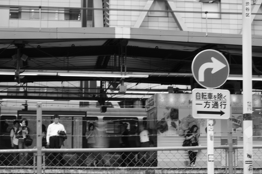 電車待ち。