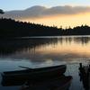 早朝の白駒池、秋