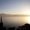 湖・日の出