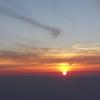 富士山山頂からの朝日