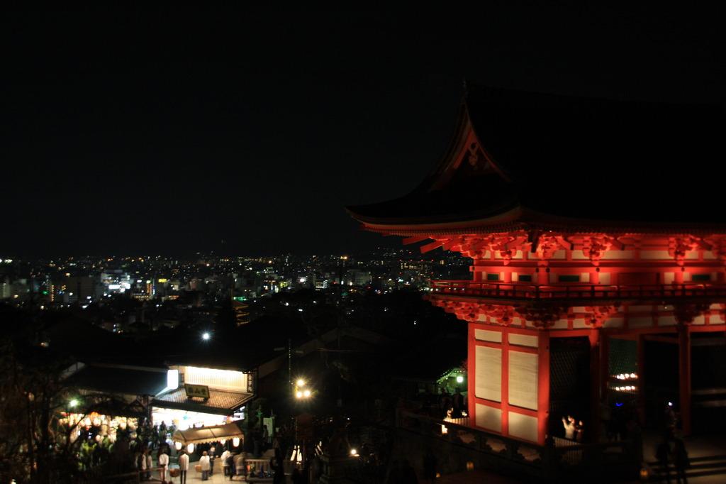 夜晚的京都