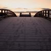 夜明けに向かう橋