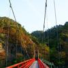 秋のあゆのつり橋