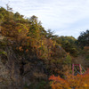 秋の久慈川のへつり