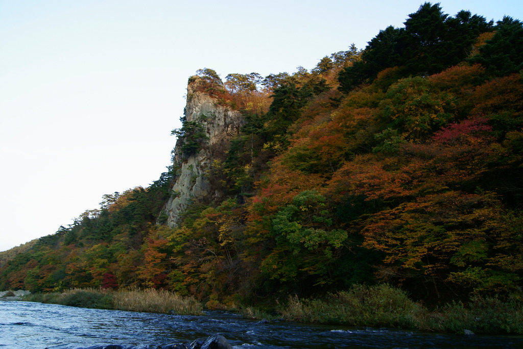 秋の夕暮れの乙女ヶ越