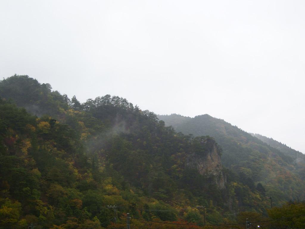 雨にぬれる秋の乙女ヶ越