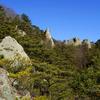 猿の階山から見た屏風岩