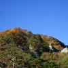 柿の木と晩秋の矢祭山