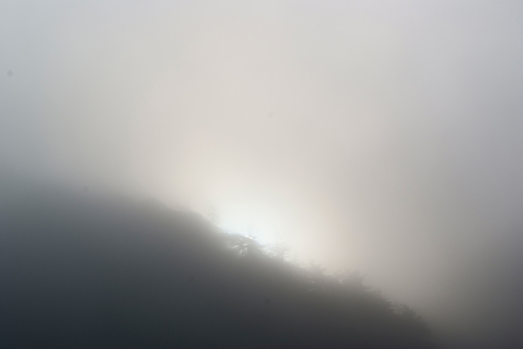 朝霧の日の出
