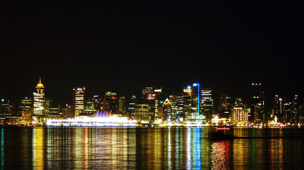 都市の灯り