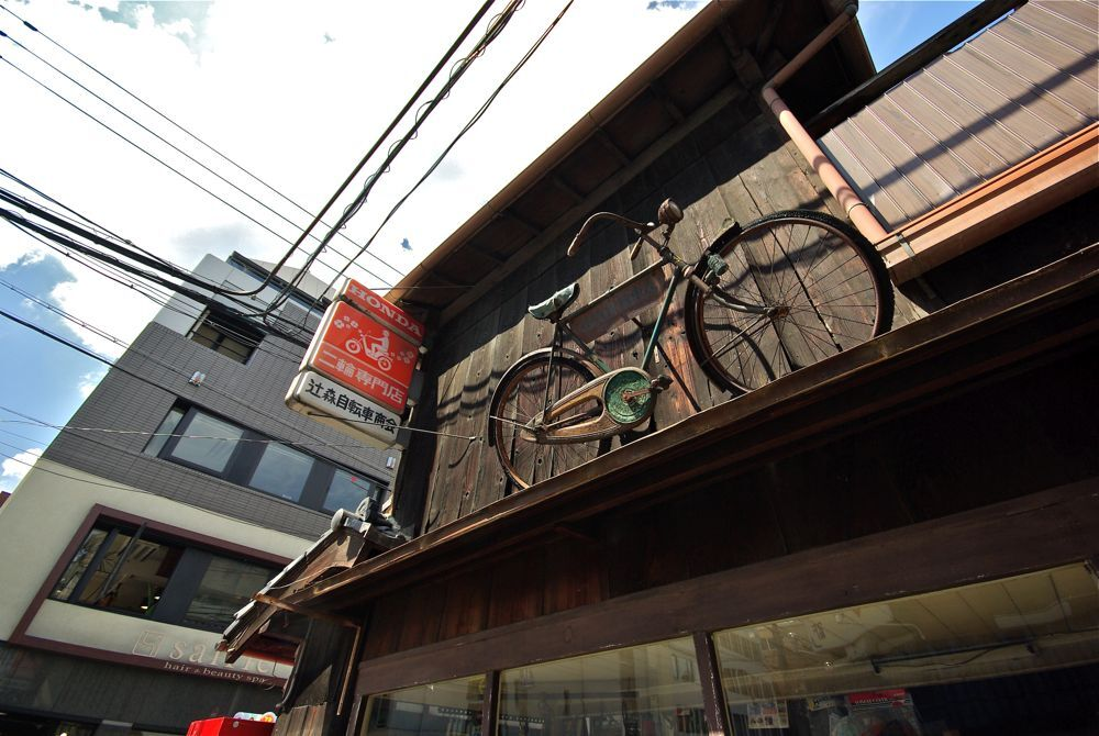 屋根自転車