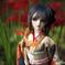 恋桜月と彼岸花のポートレート