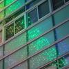 イルミネーション★ビルの窓に映る