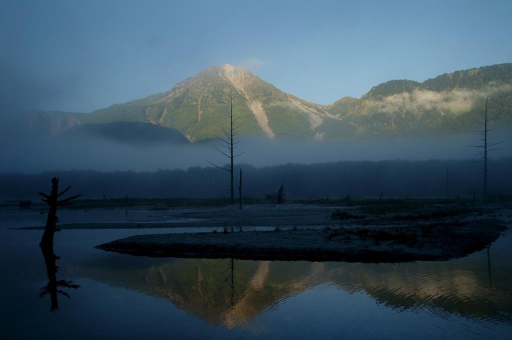 朝霧の大正池
