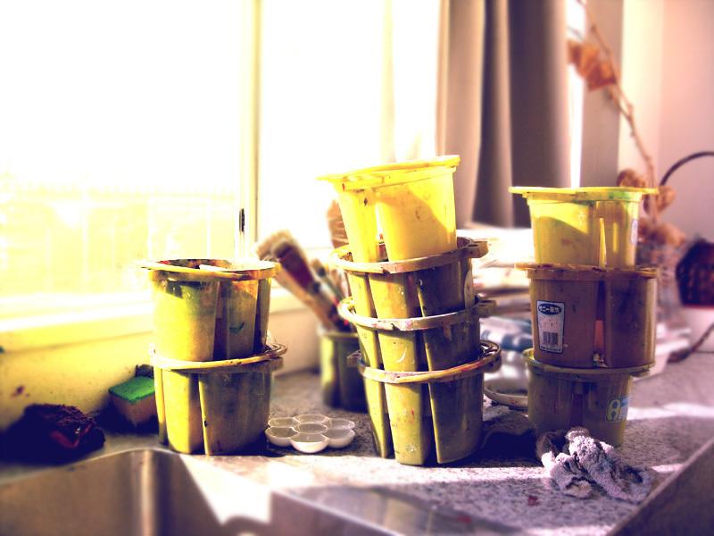 美術室の黄色