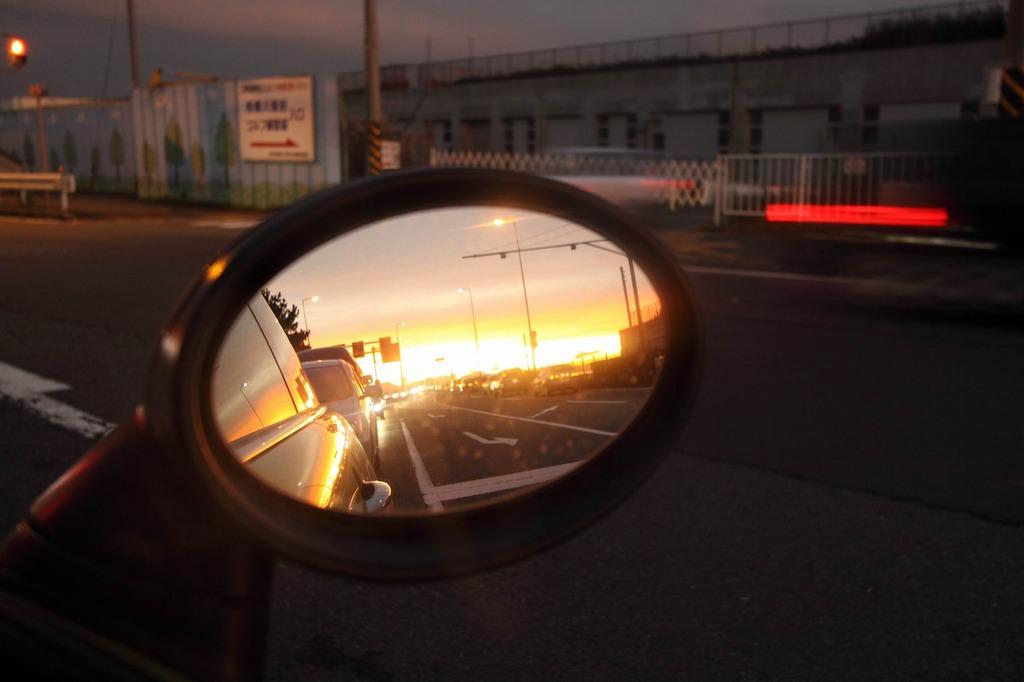 鏡の中の夕暮れ